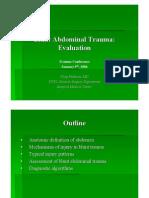 Evaluation Blunt Abdominal Trauma