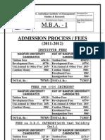 Mba Admissions 2011 12