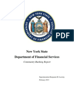 DFS Report on Community Banks