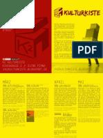 Veranstaltungsprogramm März-Mai 2012
