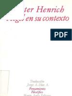 Henrich Dieter Hegel en Su Contexto