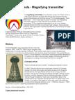 Nikola Tesla, Sympathetic Resonance, Magnifying transmitter and the Wardenclyffe Tower