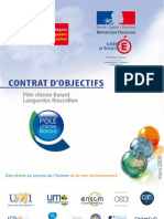 Contrat Dobjectifs Du Pole Chimie Balard 24 Mars 2009