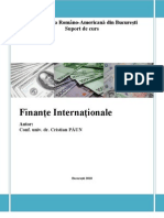 Finante Internationale. Suport de Curs