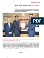 UAE Exchange accredited with TISSE 2012 for excellence in Customer Service.pdf