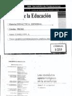 Camilloni - Los obstáculos epistemológicos en la enseñanza Prólogo