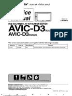 Pioneer AVIC D3 Service Manual