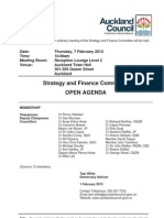 Strategy Finance Committee Agenda - Feb 2013