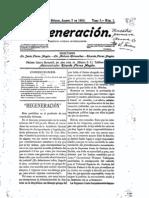 Regeneración, periódico jurídico independiente, Flores Magón.