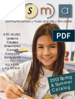 Spring Summer 2013 CSMA Course Catalog