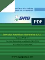 Matrices de Métodos Acreditados 2013