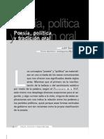 poesía, política  y tradición oral