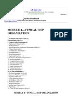 Module 4 Typical Ship Organization