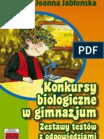 TUTOR Konkursy biologiczne w gimnazjum Joanna Jabłońska 15 s