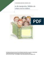 Ejercicios de memoria y Hábitos de lectura en los niños
