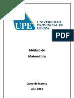 Modulo de Ingreso Matematica Universidad de Ezeiza