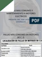 Fallas Mas Comunes y Mantenimiento a Motores Electricos