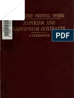 Stevenson Assyrian and Babylonian Contracts With Aramaic Reference Notes 1902