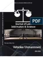 The Laws of Man Over Vehicles Unmanned