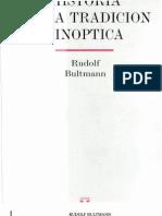 Bultmann, Rudolf Historia de La Tradicion Sinoptica