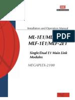 Manual de Instalación y Operación de los Modulos ML+MLF-2e