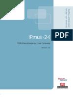 Manual de Instalación IP Mux-24