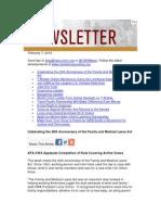 CWA Newsletter, February 7, 2013