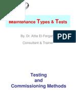 005 General Maintenance Types & Tests