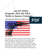 NRA's Guns for Felons Program