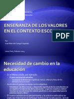 07-Desarrollo de un curriculum para enseñar en valores