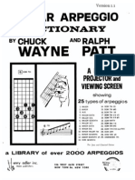 Guitar Arpeggio Dictionary by Chuck Wayne and Ralph Patt