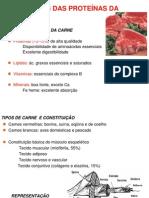 Alterações das proteínas da carne