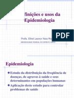 Definições e usos da epidemiologia