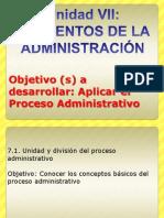 VII ELEMENTOS DE LA ADMINISTRACIÓN