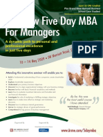 The New Five Day MBA