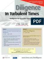 Due Diligence in Turbulent Times