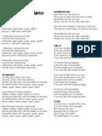 MF Song Lyrics