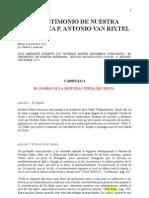 P van Rixtel - EL TESTIMONIO DE NUESTRA ESPERANZA - Capítulo 1
