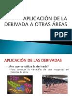 APLICACIÓN DE LA DERIVADA A OTRAS ÁREAS