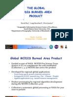 David Roy - The global MODIS burned area product