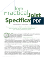 A More Practical Joist Spec - MSC