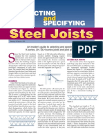 Selecting and Specifying Steel Joists - MSC