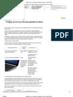 Códigos de error de LED para pantalla en blanco _ Soporte HP®