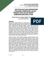 STRUKTUR PADA BATUAN SERPENTINIT DI SEPANJANG SEMPADAN JALUR TENGAH DAN JALUR BARAT SEMENANJUNG MALAYSIA