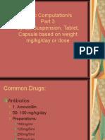 Basic drug Computation Part 3