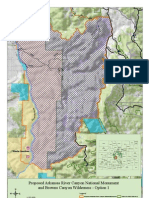 Map of Browns Canyon, Colorado