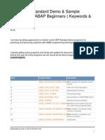 Useful SAP standard Demo & Sample programs for ABAP Beginners ( Keywords & Syntaxes)