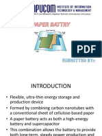 Paper Battry ppt