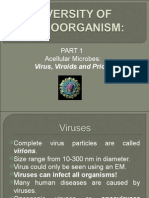 Diversity of Microorganisms 1- Acellular