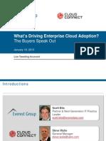 What's Driving Enterprise Cloud Adoption? The Buyers Speak Out | Webinar